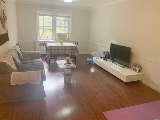 larger one bedroom big living room and kitchen with wood floor. minutes to #7 subway train. very close to LIRR