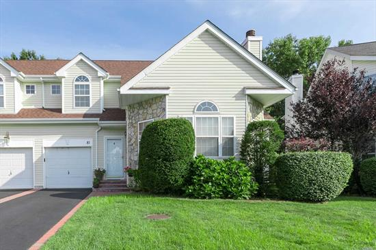 Impeccable 3/4 BR, 2.5Bth Colonial in Desirable Three Village Green. EF, FLR w/FPL & Vaulted Ceiling, FDR, Lg EIK w/Exp Cabinetry, MBR Ste w/FBth/Dual WIC's-Main Level, .5Bth & Laundry. 2nd Level Boasts 2 Lg BRs, Lg Loft/4th BR & FBth w/Tub. Lg Unfin Bsmt. Updates Inc New Roof, CAC, Gas Boiler/Hot Wtr Heater, Paver Drvway, Extd. Cabinets-kit., Lg Pvt Dec Backs to Preserve. Beautifully Maintd. Gtd Comm w/Clubhse, Pool, Fit Cntr, bsketbll & playgrd. Low common chargs. Involved & Efficient HOA. 3V Schools!