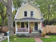 Adorable & Affordable! Charming 1920's 2 Bedroom, 2 Bath Colonial w/A Rocking Chair Porch. Bright & Spacious Floor Plan. Updates Include: Kitchen 2010 w/less then 2yr old appliances, Downstairs Bath 2017, Burham Burner & Hw heater 2015, Upstairs Fully Insulated (new ceiling & walls) & New Oak Floors 2018, Roof 2018, Outside Fencing 2019, Custom Blinds. Conveniently Located To Village, Shops, Beaches, Golf & Transportation. Low taxes: $5, 424.61 w/Basic STAR...
