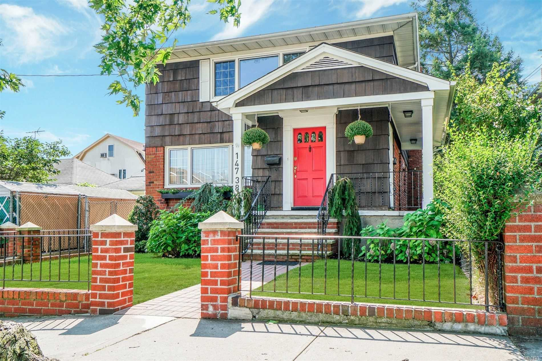 Totally renovated legal 2 family with 5 bedrooms, 4 baths Main floor is 3 bedrooms, 2 full baths Second floor is 2 bedrooms, 1 full bath Full height basement with OSE This home is a must see! All new kitchens and baths, gorgeous cabinetry, refinished floors, oversized rooms, huge high ceiling finished basement with bath, OSE. state of the art Buderos gas heating system, front porch, rear large deck, gorgeous yard, pool. fenced property, oversized garage. closets galore! cedar closet.