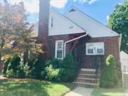 Nice And Spacious 4 Bedrooms, 2 Full Baths Brick Cape, Located On A Nice Quiet Block in Freeport. Full Finished Basement w/Private Entrance, Family Rm, 2 Rooms, Full Bath, Lots Of Storeg! One Car Garage, Beautiful Yard!