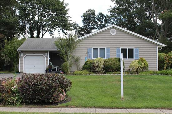 Updated, nicely kept ranch in the heart of Sayville with pool. Come move right into this beautiful home.