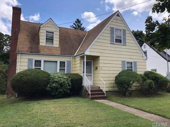 Exp. Cape, mid block in Incorporated Village, LR w/fireplace, 4 Bedrooms, 2 Full Baths, plaster walls, rear dormered, o/s park-like backyard, shed. Home is being sold as is, no representations at all. Home will not be cleaned out.
