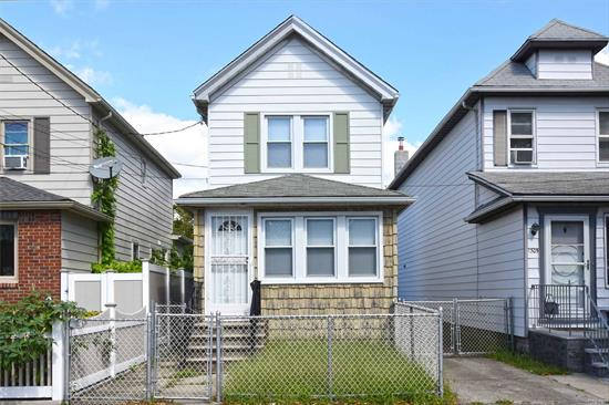 Two Story Home with Full Finished Basement, Long Private Driveway & Private Garage. Close Proximity to Shopping, Restaurants & Transportation. Express Bus to Manhattan Up the Block.