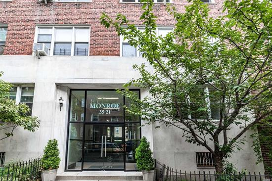 Welcome to The Monroe, Centrally located in the Jackson Heights Historic District on a quiet tree lined street, steps to all amenities, schools, and a 5 minute walk to the Roosevelt Transit Hub, it offers amenities such as a private garden, bike storage, laundry facilities, live in super and is pet friendly. This Unit is Completely Renovated - Brand New Kitchen with separate dining area & Gut Renovated Bathroom. Beautiful Hardwood Floors. Spacious Bedroom, Plenty of Natural Light and Closets!