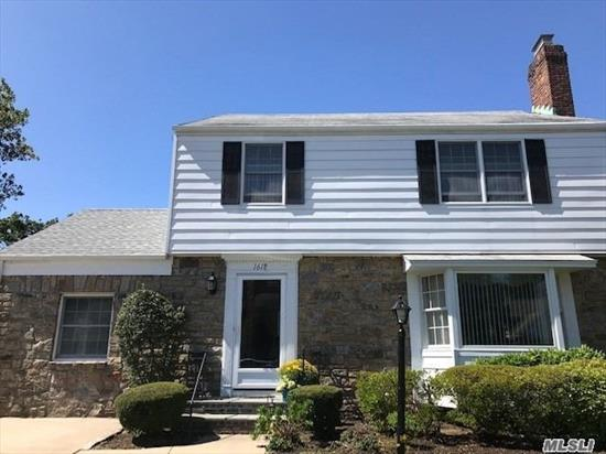 Truly a GOLDEN Opportunity to own a mid-block side hall Colonial on quiet street in No. Baldwin. Wonderful entertaining flow with room for everyone. Stately & over sized FLR w/ WBFPL, FDR, EIK w/ Gas Cooking, Sun Room, Den (or 4th Bedroom w/ full bath) plus 3 large BR'S, walk up attic & full Basement. Private yard IGS, close to all. This home oozes charm & warmth! This home is deceptively larger than you think~come see for yourself!