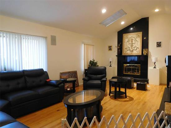 Wide line ranch house located in the most desired Hillside Terrace Section of Hicksville, buses N78/79 to Hicksville LIRR. The house has a high ceiling L/R with skylights & with access to the garage, the house also has oil heat, gas cooking and central A/C.