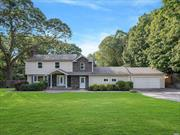 Expanded Colonial resting on 0.79 Acres, Featuring 4 Beautiful Bedrooms, 3 Full Updated Bathrooms, Kitchen with Quartz Counter Tops and Stainless Steel Appliances. Central AC. Hard Wood Floors through out the house. Smithtown Schools. Ready for you to just come and unpack. No time to be bored, plenty of Diverse Amenities in the are to enjoy.