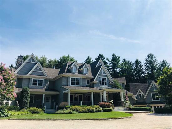 TAXES REDUCED $15K!! One Of Laurel Hollow's Most Extraordinary Custom Homes. Over 7500ft, 7+ Bedrooms, 7.1 Baths On 2.08 Secluded And Serene Acres. This 16++ Room Property Features A Gourmet Chef's Kitchen, 5 Fireplaces, Wood Floors Throughout, Radiant Heat, Extensive Custom Millwork, Bluestone Patios, 4 Car Garage, Whole House Generator, Heated Gunite Pool & Spa. Located Minutes From The Laurel Hollow Beach, Short Drive To The Train Station, LH Beach And Mooring-Cold Spring Harbor SD #2