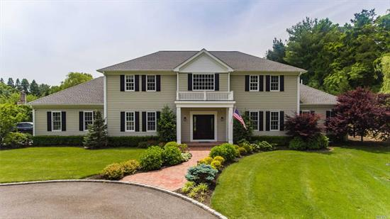 Magnificent 4 Yr Yng Colonial Situated On 1 Acre Of Pristine Manicured Property On The Pond! Boasting A Stunning 2 Story Entry Foyer, Open Floorplan, FormalDR, Exquisite EIK W Thermador Fridge & Stove, Fam Rm W/ Firepl, Lg Den, 1st Fl MBR Suite W/ Walk In Closets & Full Ba, .5 Ba, 3 Car Fin Gar! Upstairs Offers A Second MBR Suite W Balcony Overlking The Yard! 4BR, 2BA, HW Flrs & Crown Molding Throughout! Privacy Gate, Heated IG Pool & Hot Tub, Paver Patio! Walt Whitman Elem, Harry B Thomspon Mid