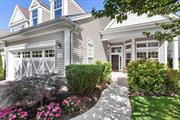 BRAVO ONE LEVEL MINT UNIT MBR suite with bath, second bedroom with general bath across the hall. Kitchen with granite counters, living room/dining room, den/great room off kitchen, two car garage, front patio and rear patio looking out to expansive lawn...privacy abounds. Over 55 gated community with clubhouse, indoor/outdoor pools and tennis.