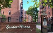 Beautiful gated complex! spacious and sunny 2 BR COOP in Sanford Plaza. only 8 mins walk to Main st. LIRR, and 7 subway. Garage and parking available with a wait list.