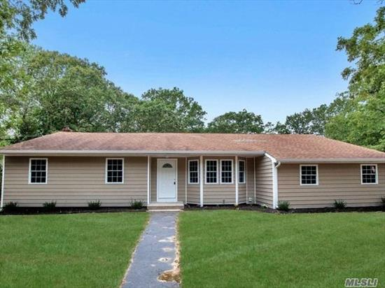 Stunning newly renovated ranch in desired Mt. Sinai area featuring open concept, CAC, 3 bedrooms 1.5 bath PLUS an amazing master suite with bath. Huge basement with OSE