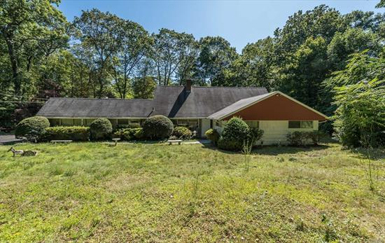 A blast from the past. This Jericho school district farm ranch, is a true handyman special. Set on flat 2.65 Muttontown acres, this 3 bedroom, 2 bath Muttontown fixer upper is surrounded by multi- million dollar homes. Great opportunity to build your own, or renovate. Home is being sold AS IS.