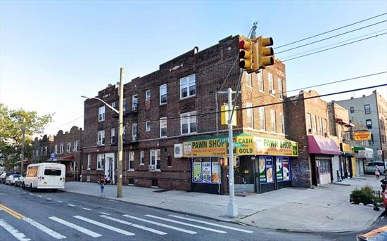 This newly renovated mixed-use building is located in the historic Brownsville neighborhood of Brooklyn. It consists of (1) commercial unit and (6) apartments, monthly rental income over $14, 000. Only blocks away from 2, 3, 4 train, LIRR, and has easy access to Linden Blvd. **All info deemed reliable but is NOT guaranteed accurate.