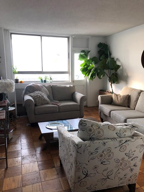 INVESTOR UNIT!! Priced to sell quickly! 592 Sq. Ft. Cozy one bed on high floor of luxury Doric cooperative, Doorman Bldg. New Balcony, unit has Parquet floors & beautiful sunset views!!!! SUN! SUN! SUN! Free AM shuttle to Hoboken PATH, Steps to midtown bus. Private footbridge to parks and dog run. Deli, Dry Cleaners in building!
