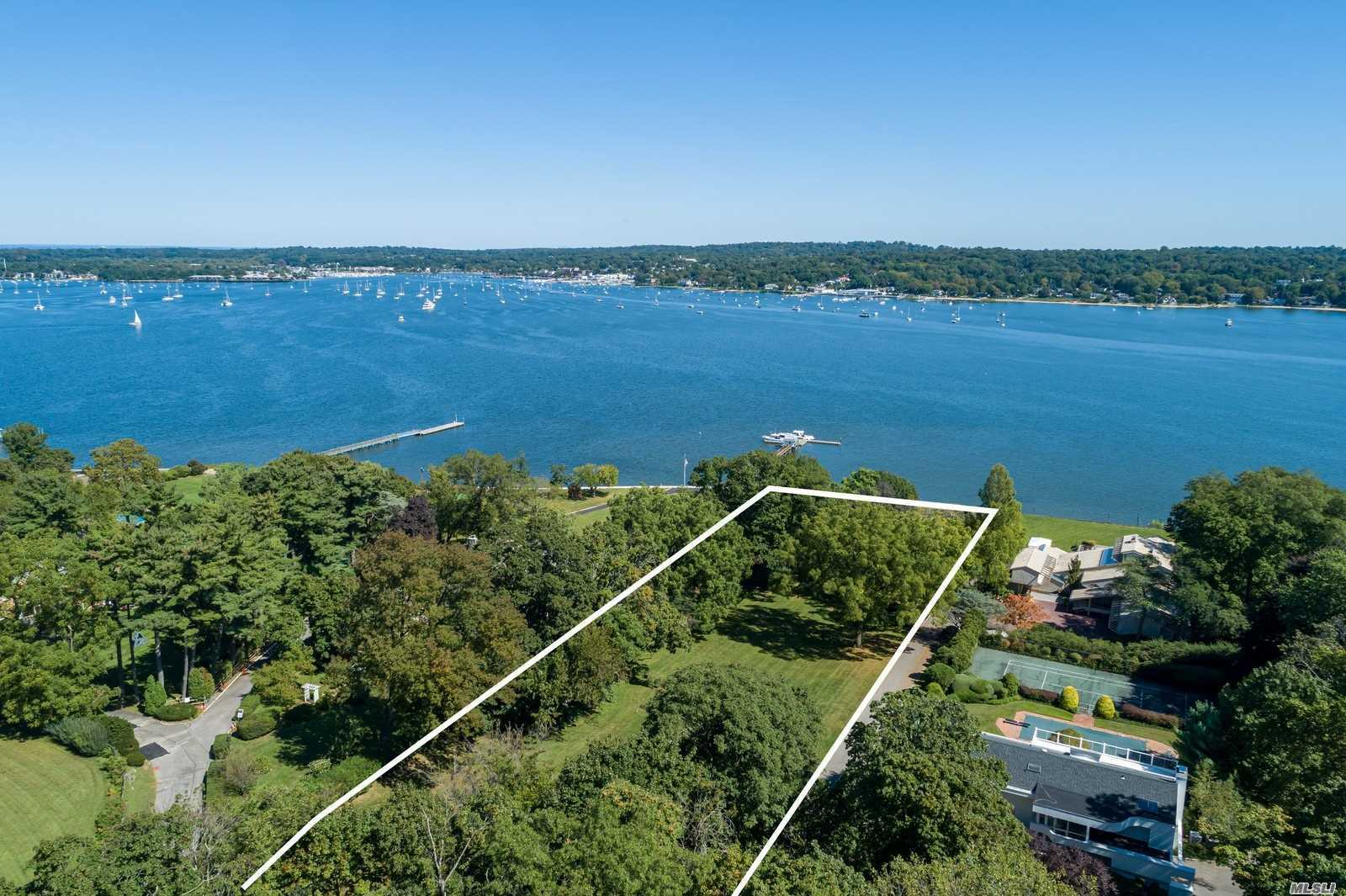 Breathtaking Unobstructed Panoramic View of Manhasset Bay, Exquisite in Everyway. Plans and Permits Ready For Building A 10, 770 Sq. Ft Home.