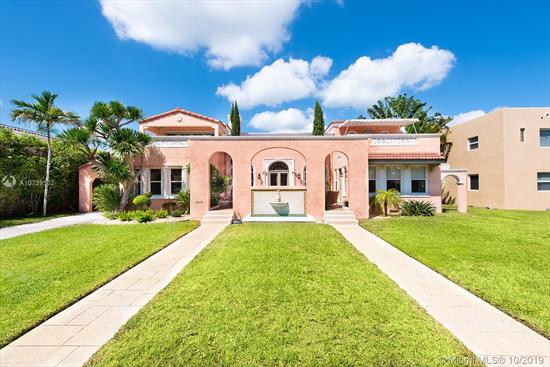 Extraordinary 1930'S Flamingo Drive Villa! 4 Bed / 4 Bath + Maid'S Bed / Bath With Over 3, 700 Square Feet Of Living Space And 2 Car Garage. Impeccably Maintained, Restored, And In Excellent Condition, This Classic Home Features Beautiful Original Details, Very High Ceilings & Large Rooms. Excellent Floor Plan With 3 Bedrooms Upstairs, All With En-Suite Baths & Dedicated Terraces. Master Suite With Big Closets And Bath. Great Light And Lots Of Windows. Over-Sized, 11, 000 Sq. Ft. Lot With Huge Backyard. Highly Desirable Flamingo Drive Location. Just A Short Walk To The Beach Or The Shops On 41St Street.