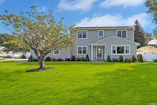 A Must See! Fully Renovated 2300 sf Colonial, plus 2.5-car Attached Garage in South Sayville! X-Zone, No Flood Insurance Needed! Enjoy 4 Bedrooms, 2.5 Baths ... including MBR with Full Bath and Walk-in-Closet, Hardwood Floors, 1st Floor Laundry, CAC, Gas Heat and Cooking, Expanded Driveway, Private and Fully-Fenced Yard! Cherry Avenue Elementary School! Move In Ready!