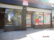 Commercial Ground Floor, Side Street Store Front For Rent with Approximately 725 Sq Ft of Space. Location has Electric Gates, Tile Floors, Store Fronts and Great Lighting. Located Near all Major Transportation. Can be used as a Store or an Office.