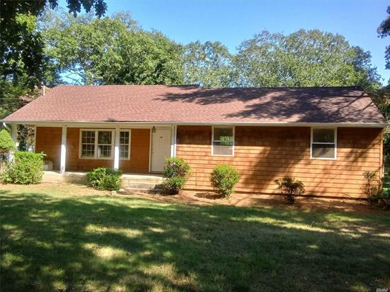 Cash only purchase, contract vendee, Cute 2br Ranch on 1 acre lot with room for expansion! Lg livingroom, eik w sliders to rear deck, full bath, sold as is, mid block location of tree lined street! Cozy front porch, good curb appeal. Not a short sale.