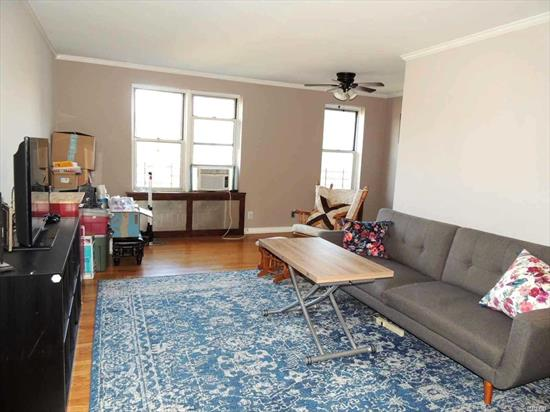 Spacious L-shaped 1 bedroom Pet friendly comes with 1 INDOOR PARKING SPOT in the heart of Forest Hills, within short walking distance to trains and other transportation. Building situated within a block away to long shopping strip with everything you need. Recently modern renovated bathroom with all appliances.