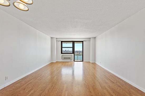 Welcome home to this spacious 1 bedroom 1 bath condo high in the sky with amazing, unobstructed panoramic Manhattan skyline and Hudson River views from all rooms and large balcony. Condo features a large living room and dining room, large balcony overlooking NYC, a large bedroom with a huge walk-in closet, beautiful hardwood floors throughout, kitchen with breakfast bar and a spacious bathroom. Must see to appreciate! The Parker Imperial is a luxury hi-rise bldg on Blvd East with 24 hour doorman, 24 hour garage attendant, on-site management, fitness center with his/hers saunas and showers, outdoor heated pool with sun deck, laundry room with 2 washers/2 dryers on on ever floor, free tennis and many other sporting activities in adjacent 167 acre park with lake. Best Location! Transportation to NYC, Hoboken and Jersey City at door. Shopping and great restaurants nearby.