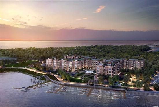 Glen Cove. Nestled on 56 acres of waterfront, this 2 bed / 2.5 bath, sun drenched Penthouse at The Beacon at Garvies Point boasts high ceilings with top to bottom windows and unobstructed views to the water front. The residence features a private rooftop terrace, GE Monogram kitchen and spacious master bedroom suite with large walk in closet. Includes 2 storage units & 2 dedicated indoor parking spaces, 24-hour doorman & concierge, Fitness Center, Yoga Studio, Screening Room & seasonal lap pool.