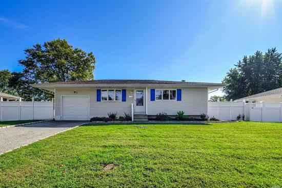 Nicely Updated Ranch Home offers a Large Eat In Kitchen w/ Oak Cabinets/ Ceramic Tile/ Formal Living Rm/Updated Windows/ Hardwood Floors/Roof/Siding/Updated Bath. Commack Schools, Close to shopping.
