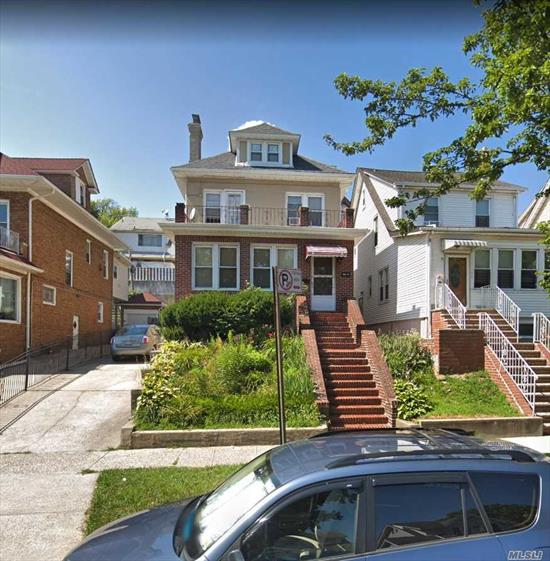 Nice Property, need TLC. Five Bedrooms, kitchen, basement and separate entrance to basement. Brick and stucco, close to subway.