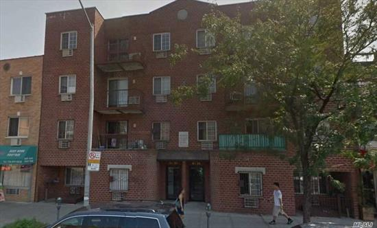 GREAT LOCATION, 2 BEDROOM CONDO LOCATED AT THE CENTER OF ELMHURST, WALKING DISTANT FOR E, M, R TRAIN GRAND AVE STATION. ONLY ABOUT 20 MINUTES COMMUTE TO MANHATTAN. THE UNIT HAS SKYLIGHTS, BALCONY, THE APARTMENT HAS EXTRA SPACE FOR STORAGE. COMMON CHARGE INCLUDE ALL HEAT, GAS AND WATER
