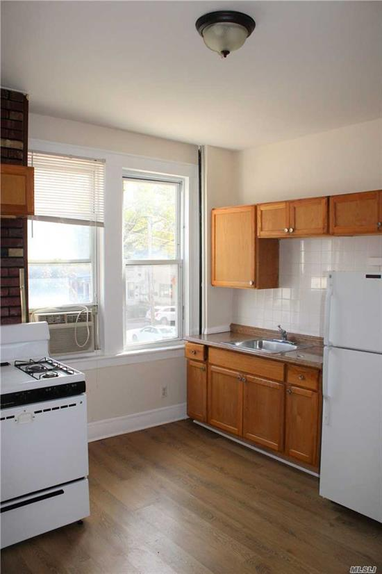 Amazing 2 bed with xtra large master (potential to make 3 bed) with nice size eat in kitchen in the heart of Maspeth. 1 floor walk up. Centrally located to stores, restaurants and transportation. Buses: Q18, Q58, Q59, Q67; Subway: 7, M, R Lines; LIRR: Port Jeff, Babylon and Port Washington Lines. Minutes to Manhattan.  Pets available on case by case basis with landlord approval. PARKING AVAILABLE - Spot in rear for $175.00