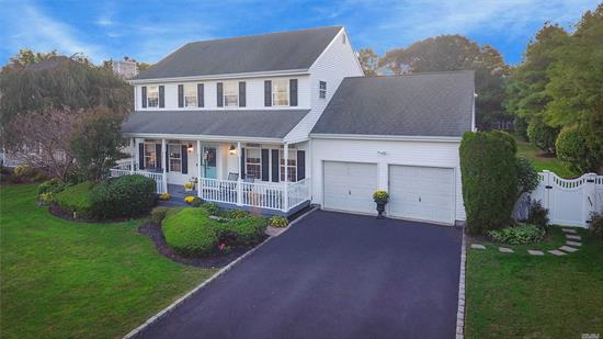 Welcome Home to this beautiful Chesterfield Colonial. Relax on the porch swing. Enjoy a fully fenced backyard with 5 1/2 ft. deep IG heated pool w/automatic chlorinator, large wooden deck for entertaining and spacious lawn. The open floor plan from the Den leads into the EIK w/granite counters & 4 year young SS appliances. Hardwood floors are throughout the 1st floor. Upstairs has MBR w/bth, 3 add beds & full bth. 5 yr. young CAC & Washer/dryer; New Hot Water Htr; generator; OSE in full Bsmt.