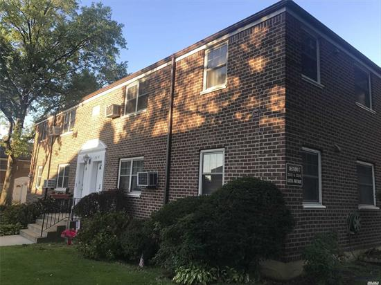 Bright Updated Corner Spacious True 2-Bedroom+Convertible Formal Dining Room/3rd Room Little Neck Courtyard Co-op! Approved Cork Floor.Updated Spacious Galley Windowed Vented-Eat-in Kitchen! Updated Bathroom! *Bonus Cabinets! *Maintenance includes All *Basic Electric, Gas, Heat, Real Estate Tax+More! Luxury Appliance add't Fees:A/C, Dishwasher, Dryer, etc. Cat on Approval! Parking Lot! Convenient to Shopping! Multiple Express Bus to NYC! Bus to LIRR, Subway and More !