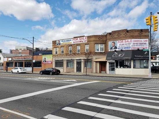 Development Site. This Assemblage is a unique combination of 8 contiguous commercial, land and residential properties. Block 11476, Lot #s 1, 6, 8, 65, 68, 69, 71, 77. Total commercial frontage on Rockaway Blvd is 250 feet. The multi zoning feature allows for developers, religious/community facilities, strip mall, franchise/anchor combinations. Please refer to attachments. Prospective Buyers to do own due diligence.