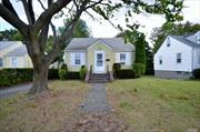 Great Opportunity for this 3 Bedroom Cape! Ef, Lr, Eik, Master Bdrm, Addl Bedroom, Full Bath. 2nd Floor; Large Bedroom. Part Basement, Unfinished w/Laundry & Utilities.