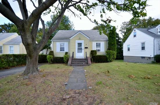 Neat & Clean 3 Bedroom Cape! Ef, Lr, Eik, Master Bdrm, Addl Bedroom, Full Bath. 2nd Floor; Large Bedroom. Part Basement, Unfinished w/Laundry & Utilities.