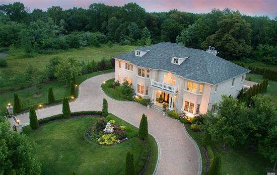 Beautifully Landscaped Grounds At The End Of A Cul-De-Sac. Located in the Charming Village of Old Brookville. Stately 7100 Sq Ft Brick Colonial. Exquisite Craftmanship Throughout. Two Story Marble Foyer w/Sweeping Bridal Staircase, Radiant Heat. Thoughtfully Designed for Gracious Entertaining EIK, Magnificent 1000+Sq Ft. Master Suite With Sitting Area & Fireplace. Perfectly Manicured Gardens, Fountains & Heated Gunite Pool With Expansive Patio. Close To All. North Shore SD.