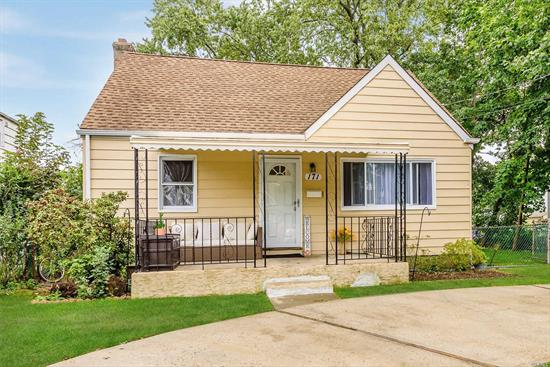 Opportunity In The Heart Of Elmont! Well Kept Expanded Cape on Quiet Dead End Street Features 4 Bedrooms And 2 Full Bathrooms, A Basement With An Outside Entrance. 1st Floor: Living Room, Eat in Kitchen, 2 Bedrooms & Full Bath. 2nd Floor: 2 Bedrooms and Full Bath. Accuracy Of All Information Including Tax Must Be Verified.