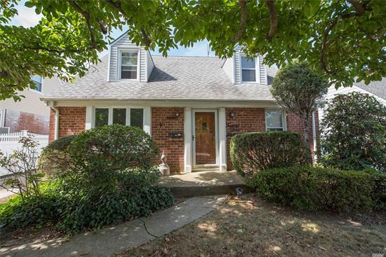 Well Kept Cape in Great Location. House is on a beautiful block near Clearview Golf Course.House has huge living room, updated Kitchen & Bathrooms, long driveway to 1 car garage, beautiful backyard,  School District 26, (ps 159 & IS 25) Walking distance to Bay Terrace Shopping Center,  Express Buses and ny city buses. Will Go Quick!!!!!!!