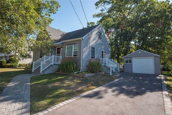 Low Taxes!!!!Lovely West Islip Cape In Diamond Condition Featuring Master Bedroom And Second Bedroom, Full Bath, EIK, And Living Room With Hardwood Floors On The First Floor. The Second Floor Includes 2 Additional Bedrooms And Full Bath. Great Space In The Basement For Entertainment Purposes And Laundry Area. The Completely Fenced In Yard Is Very Nice And Private With Fire Pit And Detached Garage. Close To All.