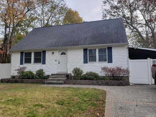 A lot to Offer in this 4 Br Cape on .3 acres! All Nice Size Room including Living Rm w/Wood Plank & Wood Floor, Eik, all good size Bedrooms, 2 Full Bath and a Full Basement w/high ceilings & Outside entrance. Home also has a newer roof and could have a use of the carport if pvc fence was moved.