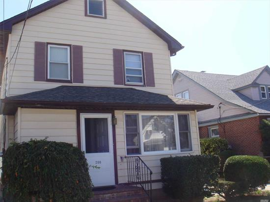 3 Bedroom colonial, living room, dining room, kitchen, Full bath, unfinished basement,  detached garage on a dead end street walking distance to schools.