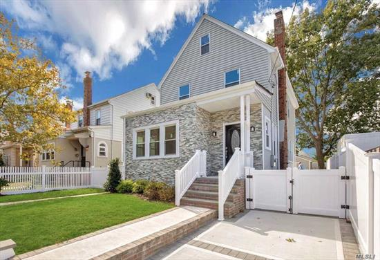 House Is Completely Renovated, New Kitchen with Granite and SS Appliances, 3 New Bathrooms, Hardwood Floors, Bedroom or Den on the 1st Floor with Full Bathroom, Gas Heating with 2 Zones, CAC with 2 Zones, Wood Burning Fireplace, Sliding Glass Door to Private Yard, Close to Shopping, Busses & LIRR, Hurry Will Not Last!!