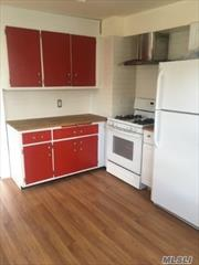 Spacious apartment features eat-in-kitchen, fdr/bedroom, living room, bedroom, office, extra room, two full baths, one car garage, use of washer/dryer. Walk to LIRR, shopping and dining.