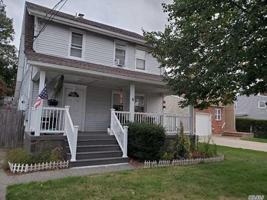 Colonial Whole House in a Nice Block. Renovated Mint Condition,  3Br, 1, 5 Bath, Fin- Basement, 2 Det-Garage, Newly done with Front Porch, Nice Yard around the House. Convenient to Shopping, Bus and 5 Minutes to LIRR.