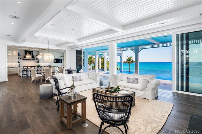 Welcome To This Newly Completed Bermuda-Style Direct Oceanfront Estate In Highland Beach Providing Some Of The Absolute Best Panoramic Ocean Views The South Florida Oceanfront Market Has To Offer. From Start To Finish This Oceanfront Masterpiece Has It All. Quality Built In 2018 Features Include Oak Floors, Movie Room, Spacious Master Wing, 300-Gallon Aquarium And Five Car Garage. Enjoy Endless Ocean Vistas From The Covered Loggia, Patio, Balconies, Roof-Top Terrace, 75 Foot Infinity Edge Saltwater Pool And Private Dune With Beach Access. The Gated Estate Includes 100 Feet Of Direct Oceanfrontage, 7 Bedrooms, 7  Baths And 13, 184 Total Square Feet. Located Between Delray Beach And Boca Raton, This Exceptional Oceanfront Property Offers The Very Best In Luxury Living.