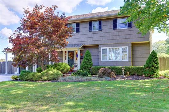 Immaculate 4 Bedroom, 2.5 Bath Colonial Nestled On Over Half Acre On Beautiful Sherwood Lake. Large Entry Foyer, Eat in kitchen, Formal Dining Room, Living Room, Large Family Room With Vaulted Ceilings & Gas Fireplace, Master Bedroom With Stunning En-Suite Bath. Central Air Conditioning Patio & Two Car Attached Garage. Bring Your Kayaks & Ice Skates!