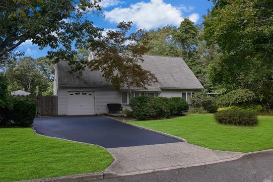 Magnificent dormered Cape in the H section resort style yard Great for entertaining large Igp custom paving stones large 20x20 patio roll out awning blacktop driveway Open flr plan Beautiful kit Ss appli tile back splash lots of cabinet & counter space granite breakfast bar large den/4th bdrm w/sliding glass door enormous mst bdrm w/custom molding & ceiling fan Cac 6 year young boiler pull down steps to attic sewer system New washer And Dryer, New LoopLoc cover, shed, new water heater
