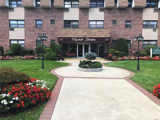 Newly redone large 2nd floor corner unit. New carpet throughout, new stove & updated bathroom, large master bedroom, laundry on same floor, picnic & BBQ area on site. Maintenance includes heat, gas water & taxes. Near Farmingdale Village & railroad.